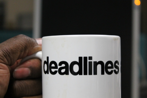 Mark Turner's cup of deadlines.