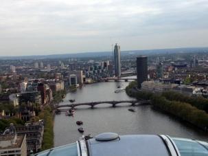 London Eye view south down the Thames